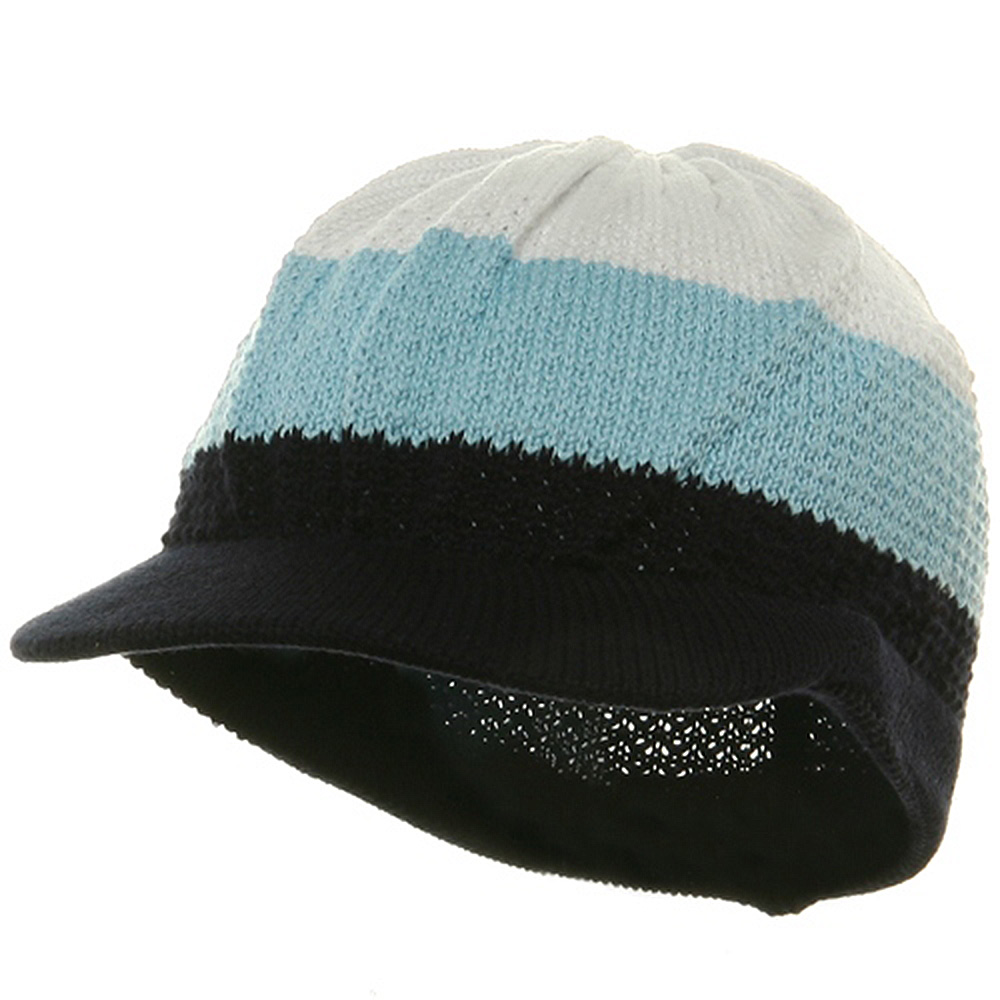 Cool Running Rasta Beanie Visor-White Sky Navy - Hats and Caps Online Shop - Hip Head Gear