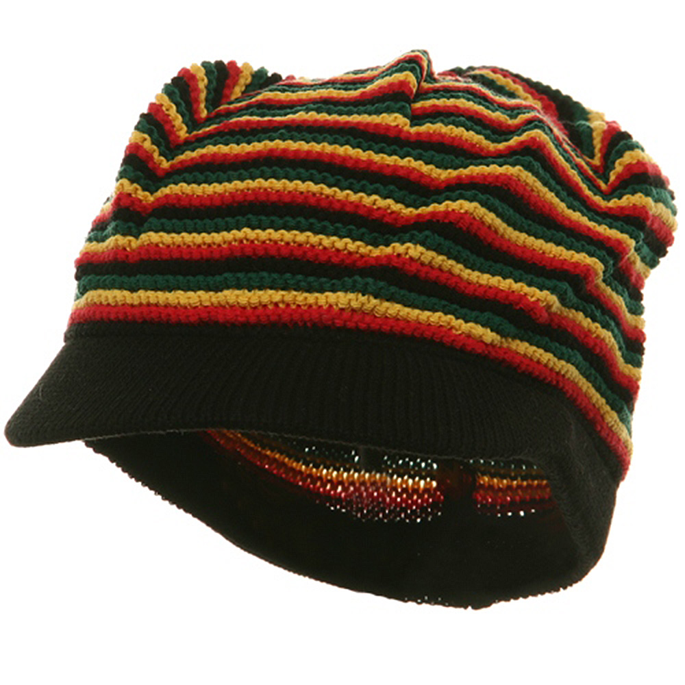 Star Rasta Beanie Visors-RGY - Hats and Caps Online Shop - Hip Head Gear