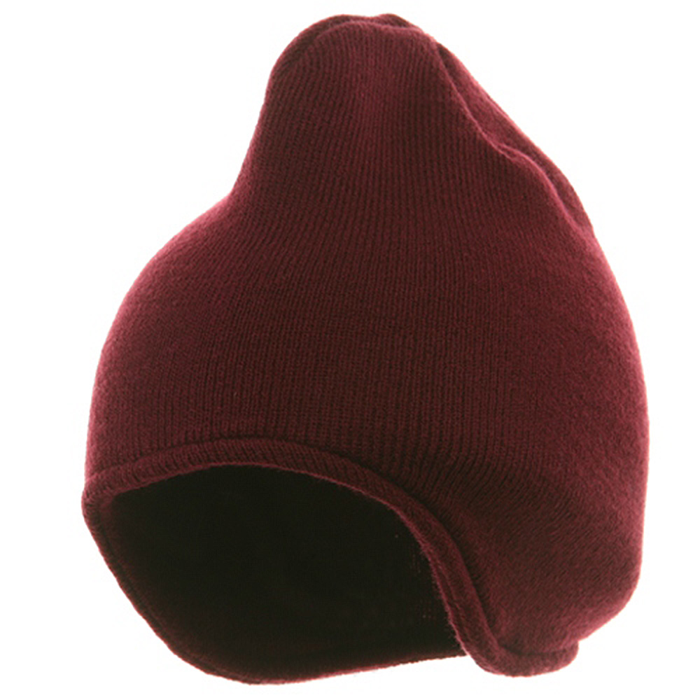 Acrylic Fleece Knit Beanies-Maroon - Hats and Caps Online Shop - Hip Head Gear