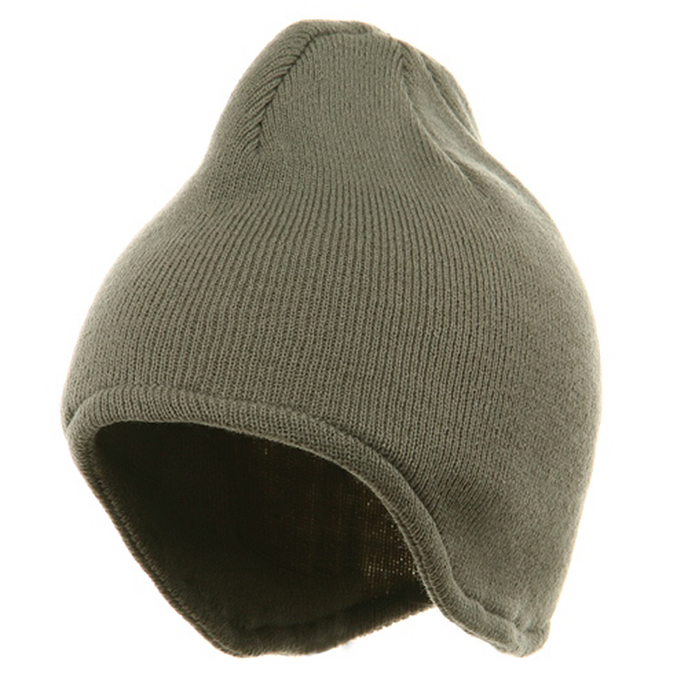 Acrylic Fleece Knit Beanies-Grey - Hats and Caps Online Shop - Hip Head Gear
