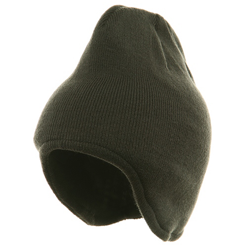 Acrylic Fleece Knit Beanies-Charcoal - Hats and Caps Online Shop - Hip Head Gear