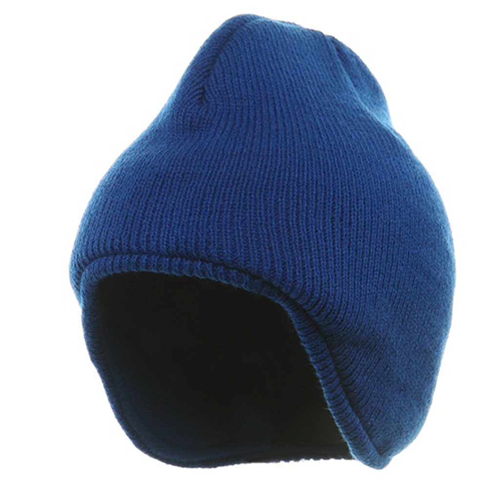 Acrylic Solid Knit Beanies-Royal - Hats and Caps Online Shop - Hip Head Gear