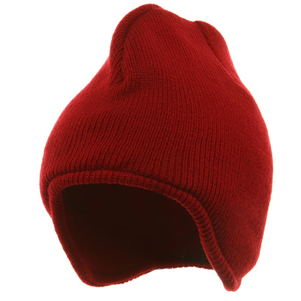 Acrylic Solid Knit Beanies-Red - Hats and Caps Online Shop - Hip Head Gear