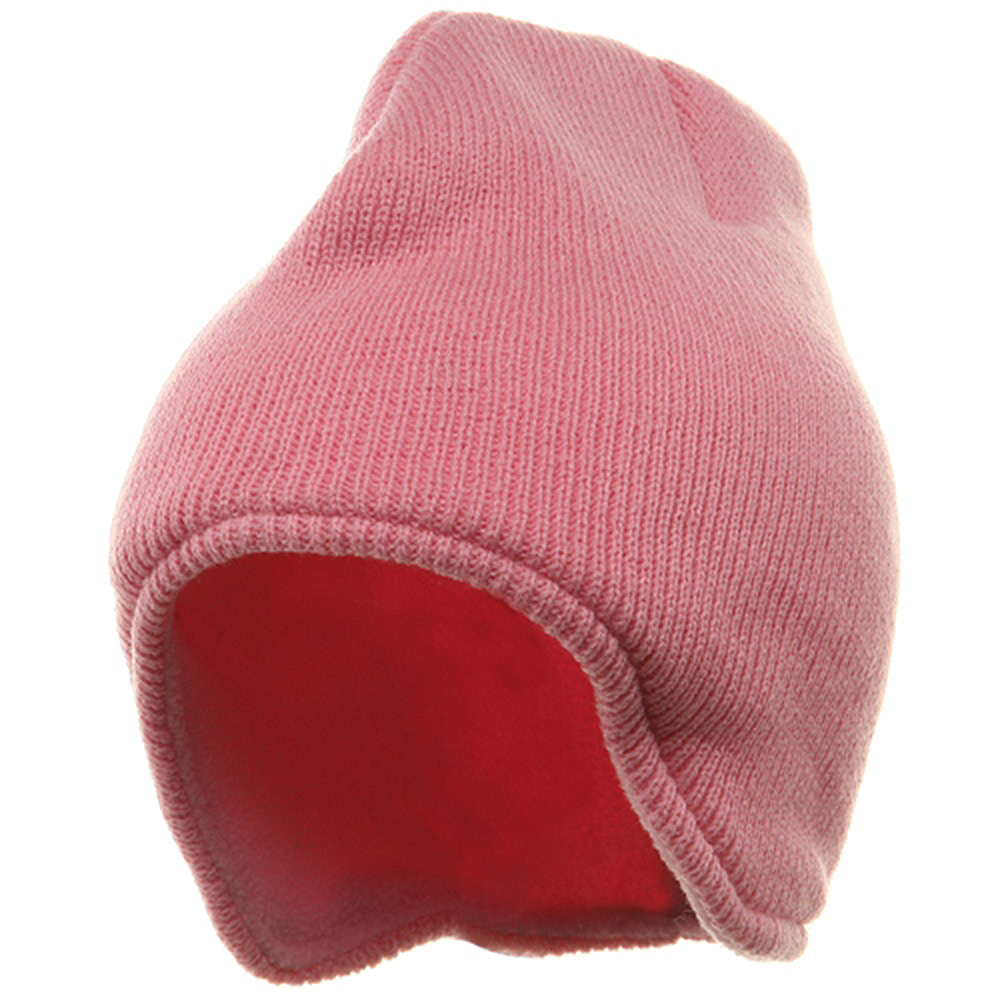Acrylic Solid Knit Beanies-Pink - Hats and Caps Online Shop - Hip Head Gear