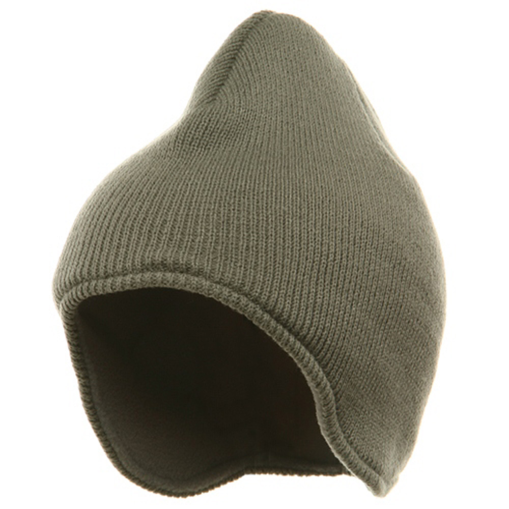 Acrylic Solid Knit Beanies-Grey - Hats and Caps Online Shop - Hip Head Gear
