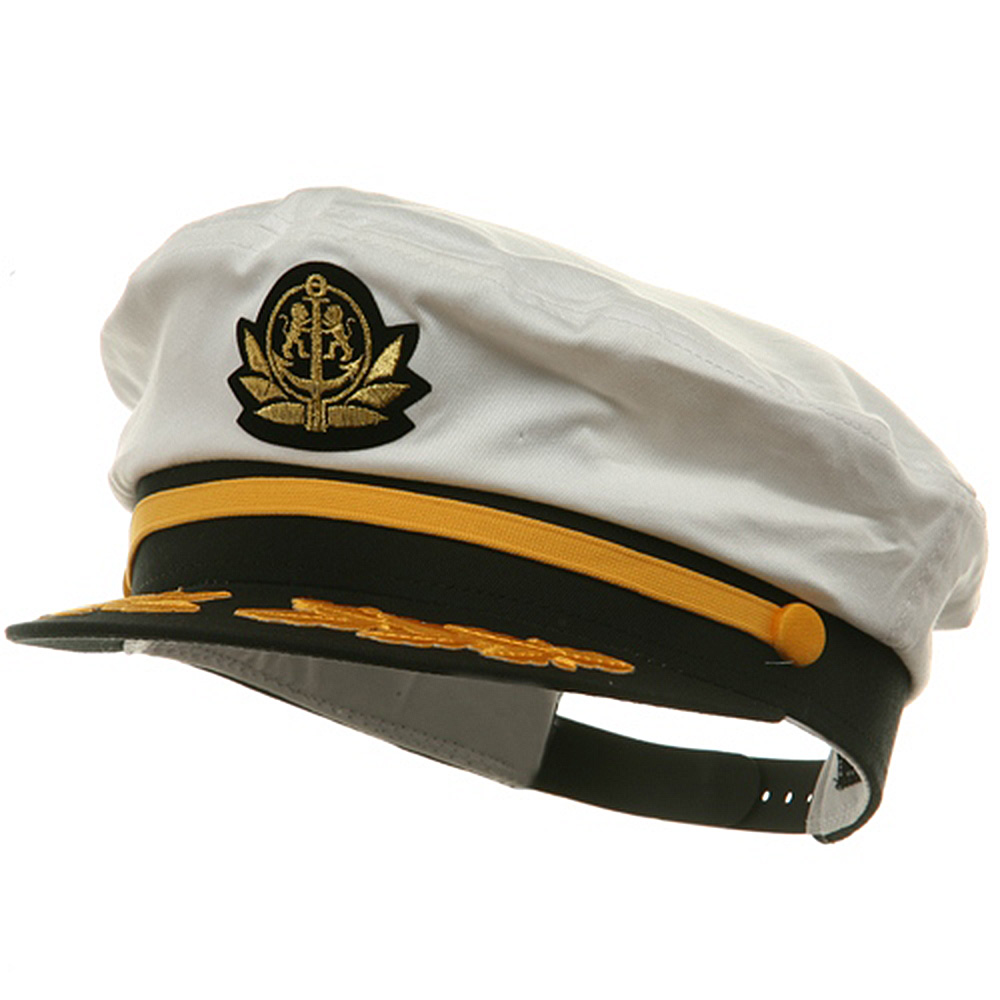 Adjustable Captain Hat-White Flagship - Hats and Caps Online Shop - Hip Head Gear