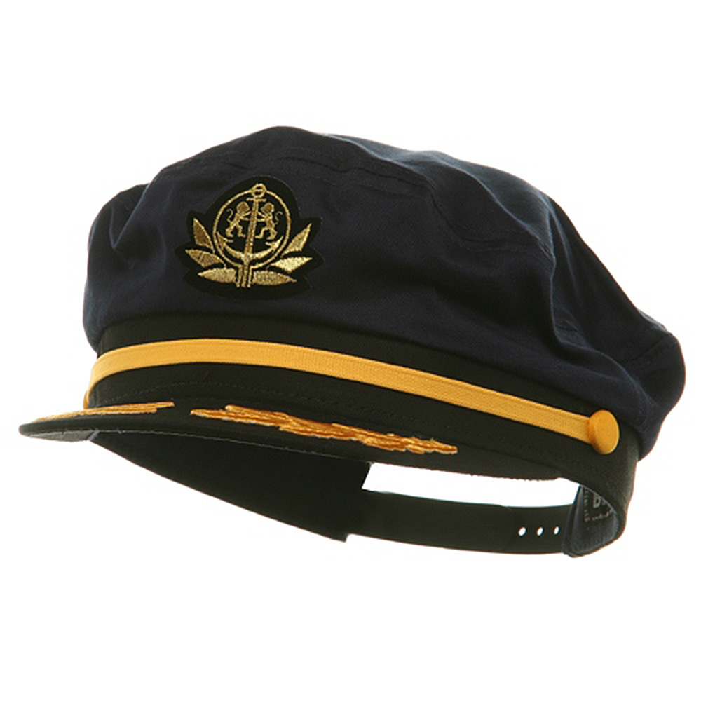 Adjustable Captain Hat-Navy Flagship - Hats and Caps Online Shop - Hip Head Gear