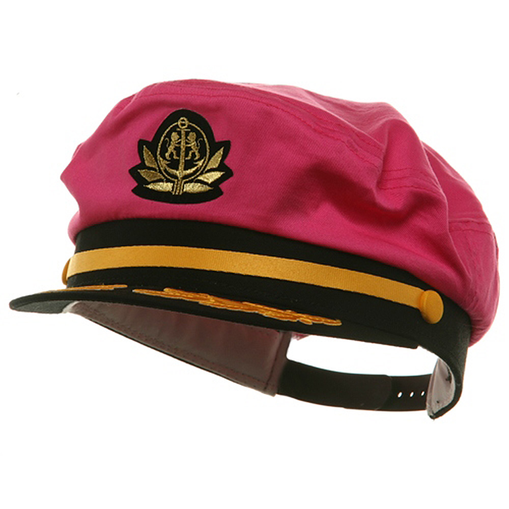 Adjustable Captain Hat-Pink Flagship - Hats and Caps Online Shop - Hip Head Gear