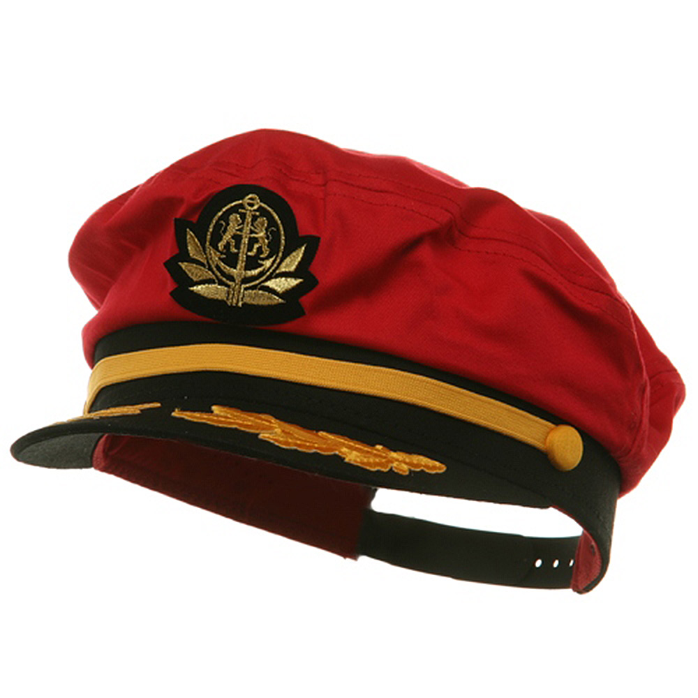 Adjustable Captain Hat-Red Flagship - Hats and Caps Online Shop - Hip Head Gear