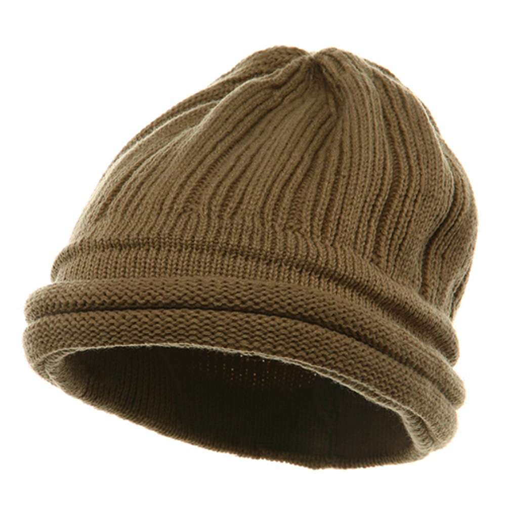 3 Brim Beanie - Khaki - Hats and Caps Online Shop - Hip Head Gear