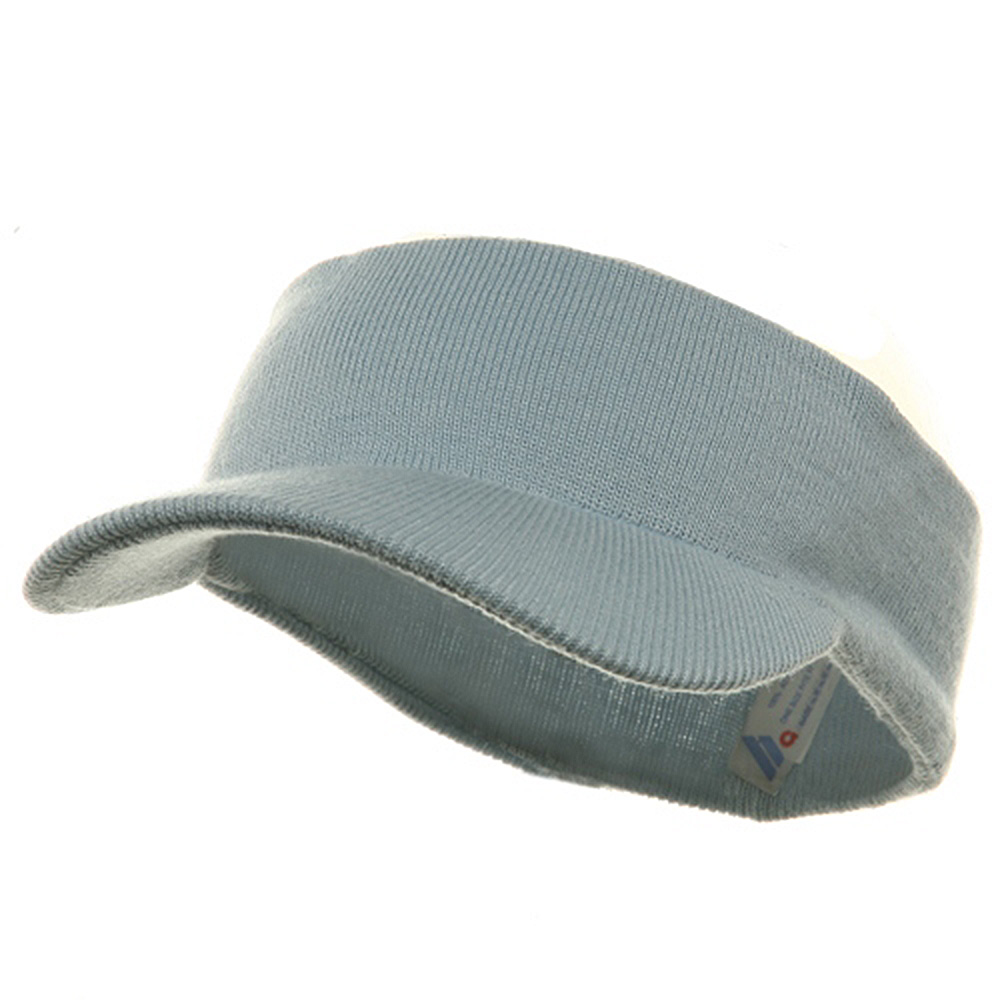 Knitting Band Visor-Sky Blue - Hats and Caps Online Shop - Hip Head Gear