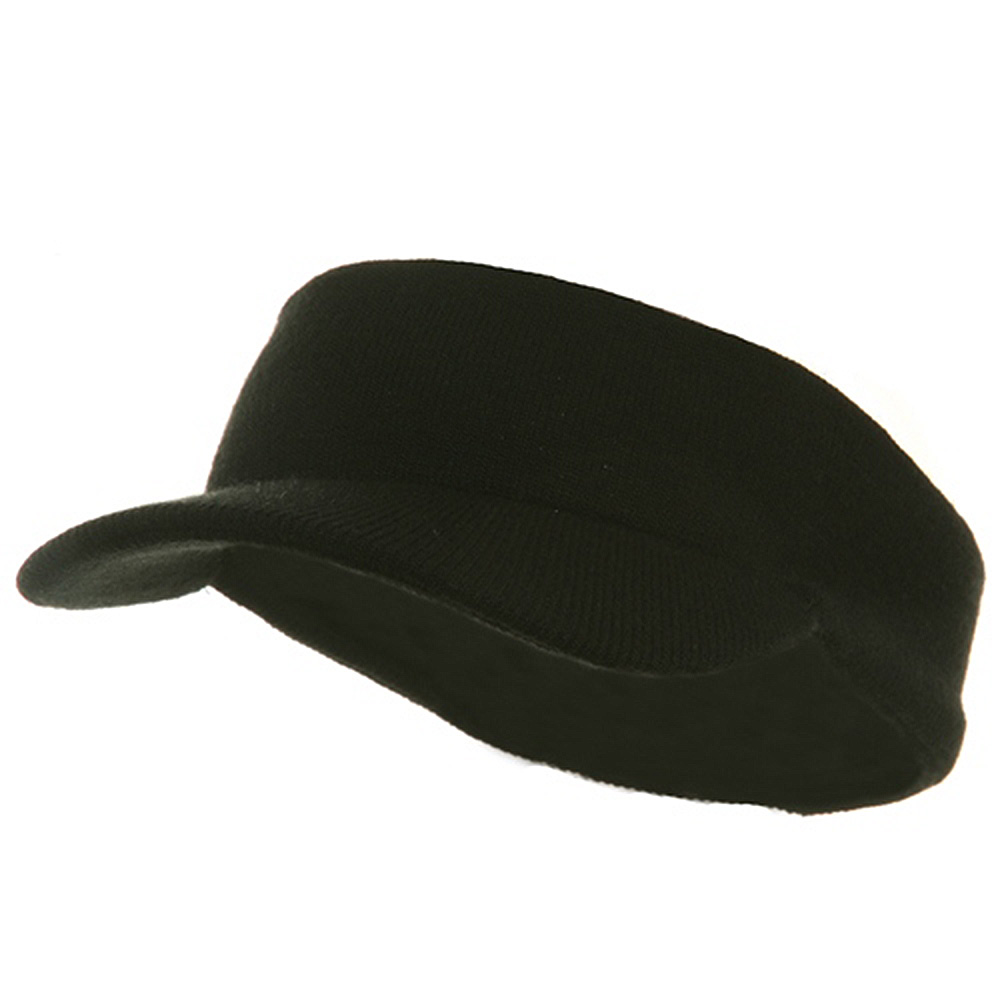 Knitting Band Visor-Black - Hats and Caps Online Shop - Hip Head Gear