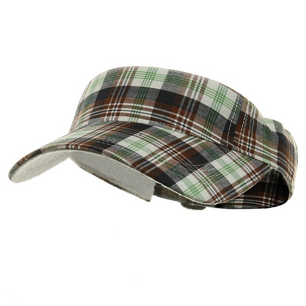 Pro Style Plaid Visor - Green - Hats and Caps Online Shop - Hip Head Gear