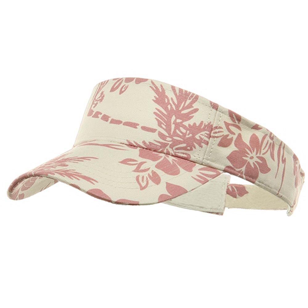 Canvas Flower Print Visors-Lt Pink - Hats and Caps Online Shop - Hip Head Gear
