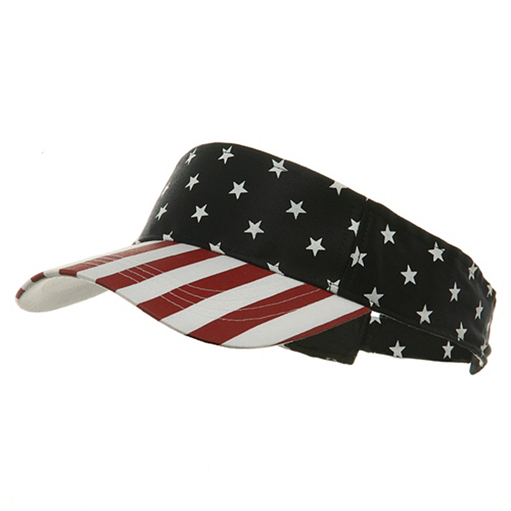 USA Flag Visor-USA Star Stripe - Hats and Caps Online Shop - Hip Head Gear