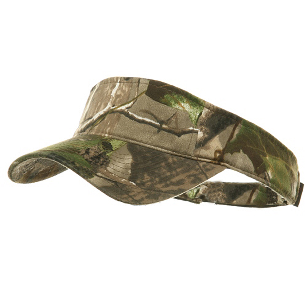 Garment Washed Camo Visor - APG Real Tree - Hats and Caps Online Shop - Hip Head Gear