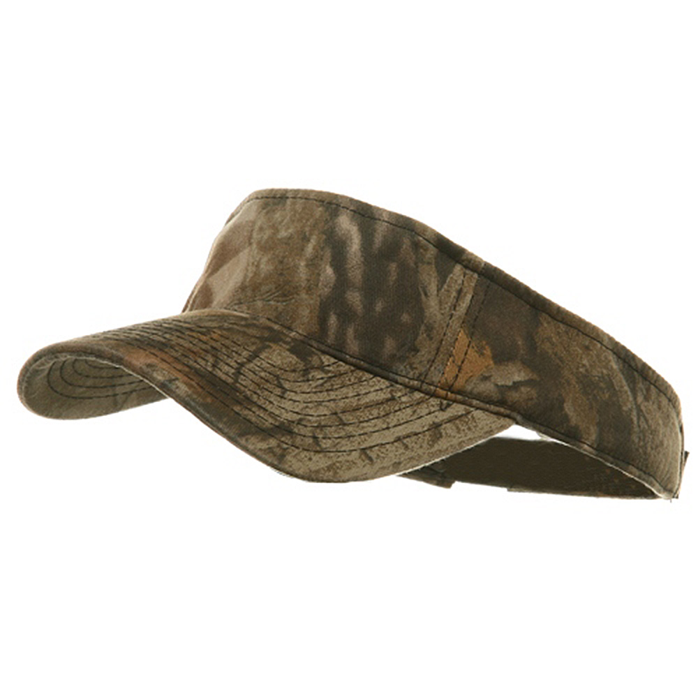 Garment Washed Camo Visor-Advantage Timber - Hats and Caps Online Shop - Hip Head Gear