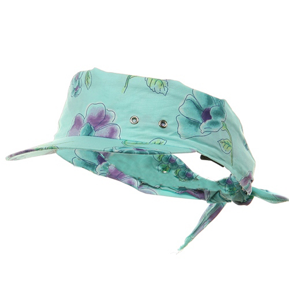 Print Kerchief Visors-Blue - Hats and Caps Online Shop - Hip Head Gear