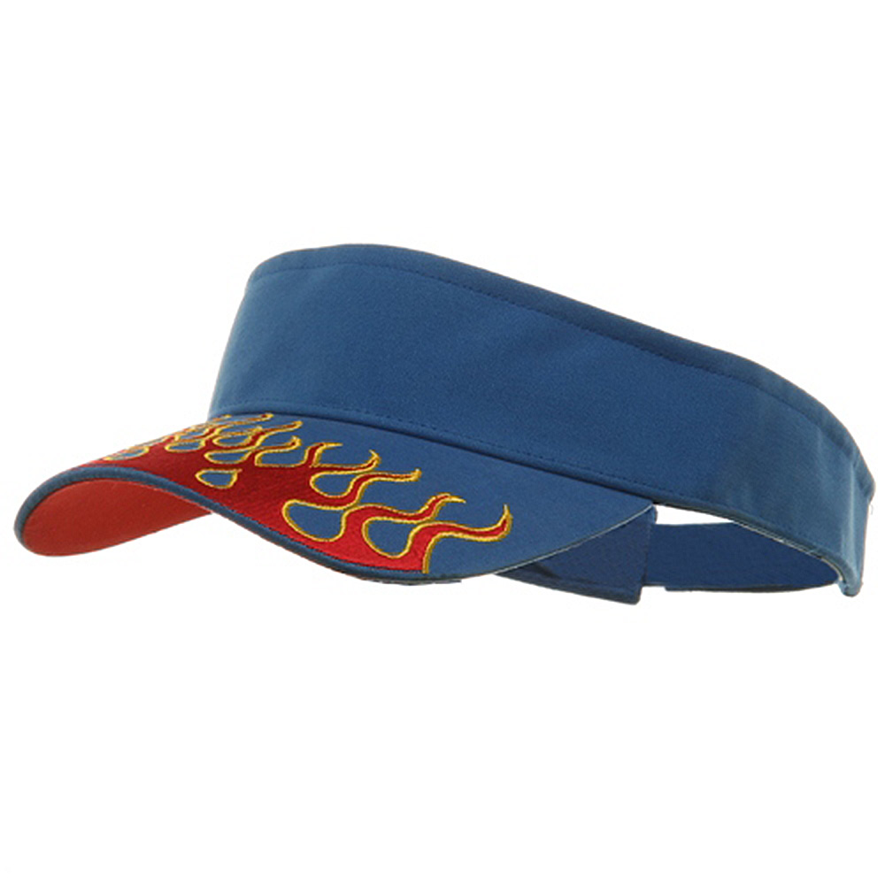 Flame Visors-Royal Red - Hats and Caps Online Shop - Hip Head Gear