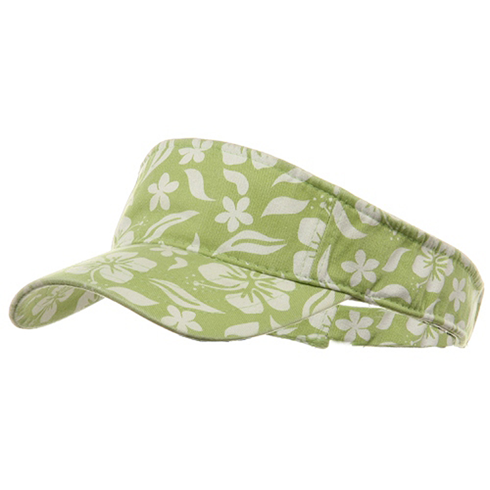 New Hawaiian Pattern Visor-Lime - Hats and Caps Online Shop - Hip Head Gear
