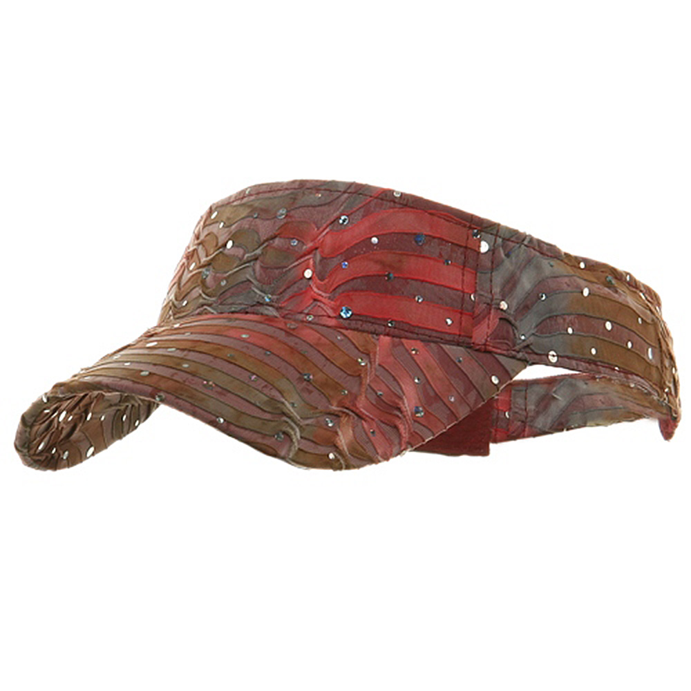 Multi Color Animal Print Visor - Rose - Hats and Caps Online Shop - Hip Head Gear