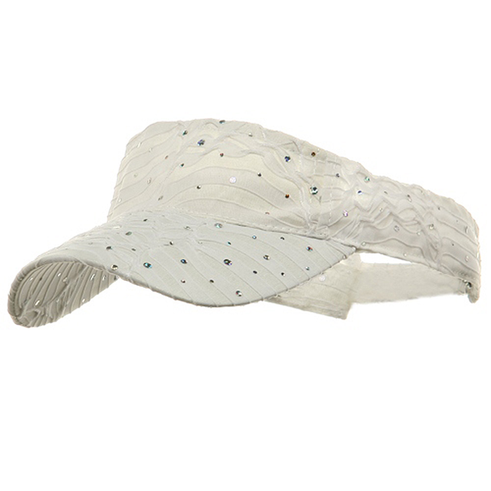 Glitter Visor-white - Hats and Caps Online Shop - Hip Head Gear