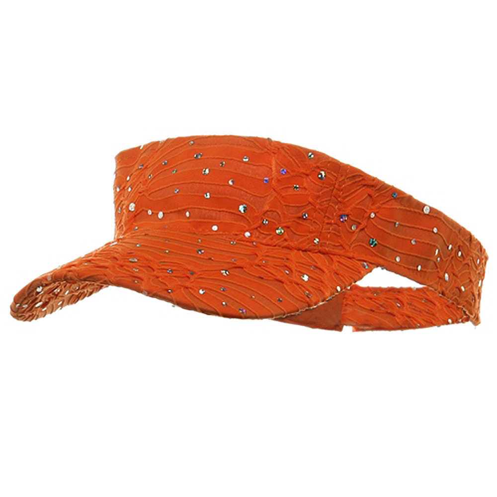 Glitter Visor-Orange - Hats and Caps Online Shop - Hip Head Gear