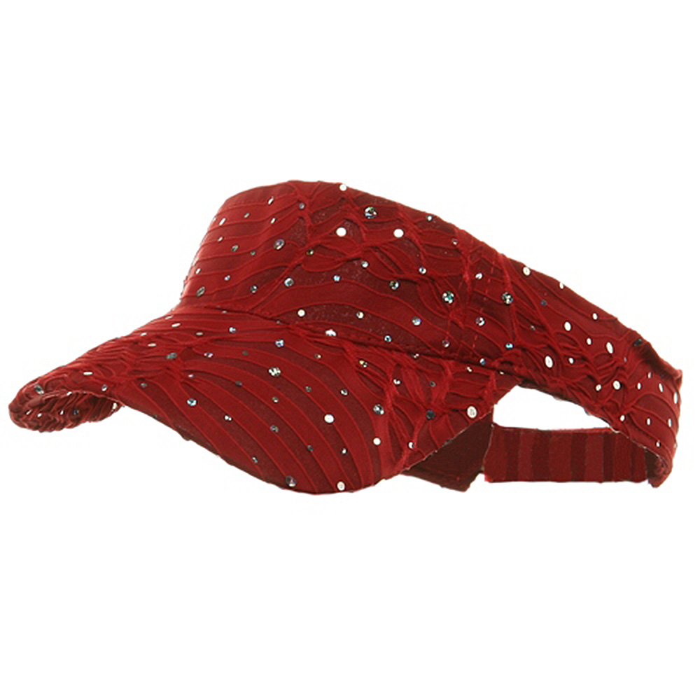 Glitter Visor-Red - Hats and Caps Online Shop - Hip Head Gear