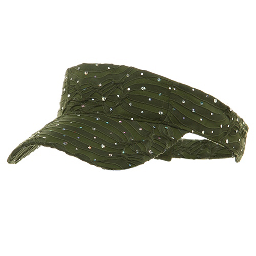 Glitter Visor-Olive - Hats and Caps Online Shop - Hip Head Gear