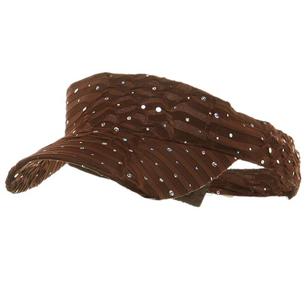 Glitter Visor-Brown - Hats and Caps Online Shop - Hip Head Gear