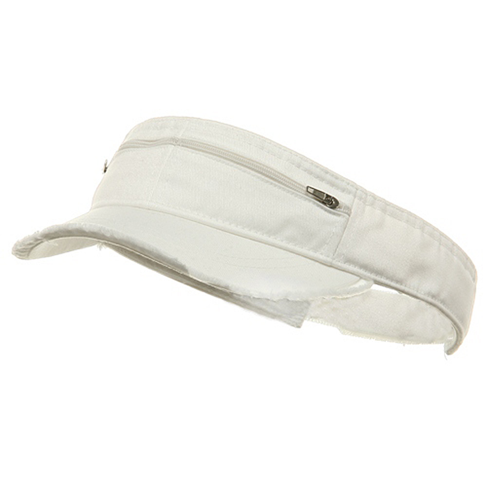 Enzyme Washed Cotton Twill Visor-White - Hats and Caps Online Shop - Hip Head Gear