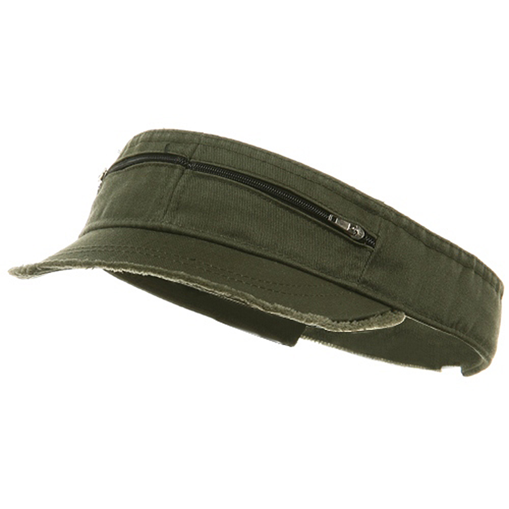 Enzyme Washed Cotton Twill Visor-Olive - Hats and Caps Online Shop - Hip Head Gear