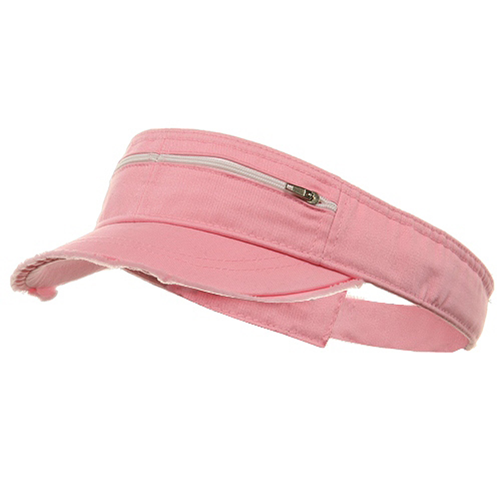 Enzyme Washed Cotton Twill Visor-Pink - Hats and Caps Online Shop - Hip Head Gear