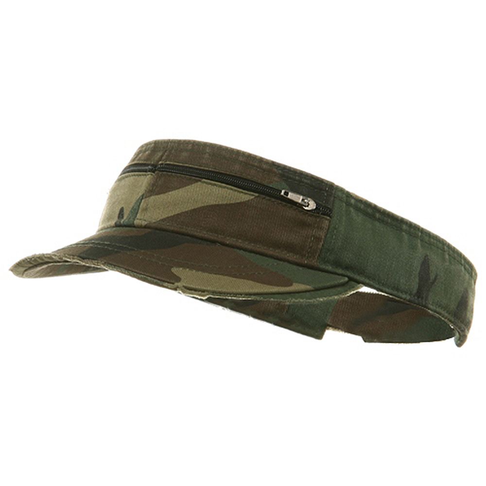 Enzyme Washed Cotton Twill Visor-Camo - Hats and Caps Online Shop - Hip Head Gear