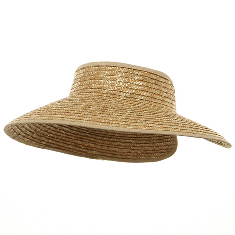Braided Straw Wrap Visor-Natural - Hats and Caps Online Shop - Hip Head Gear