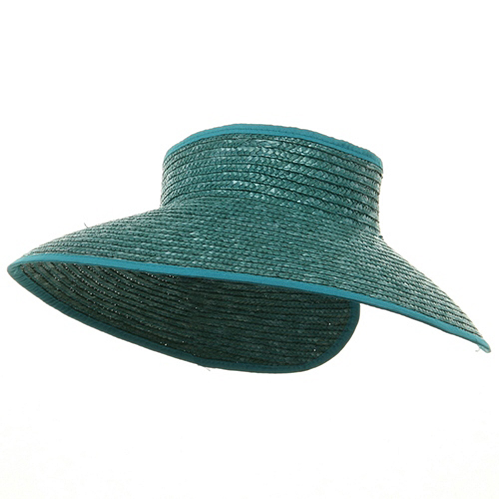 Braided Straw Wrap Visor-Aqua - Hats and Caps Online Shop - Hip Head Gear