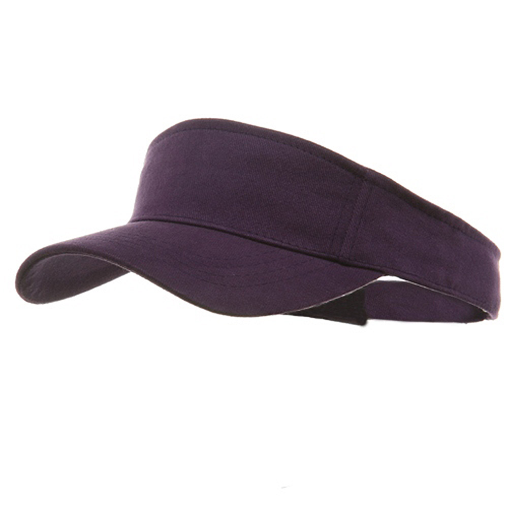 Brushed Sports Visor-Purple - Hats and Caps Online Shop - Hip Head Gear