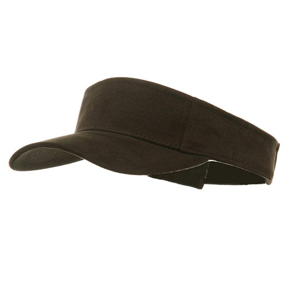 Brushed Sports Visor-Brown - Hats and Caps Online Shop - Hip Head Gear