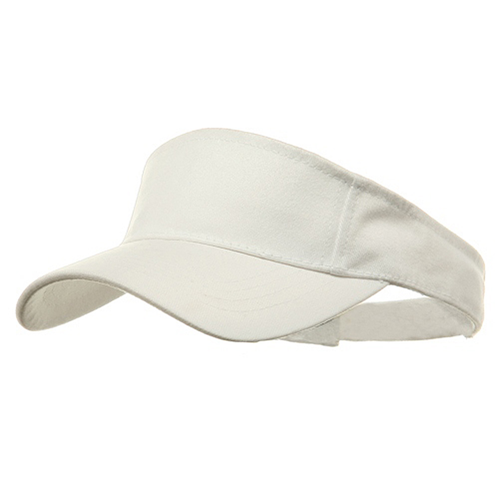 Brushed Sports Visor-White - Hats and Caps Online Shop - Hip Head Gear