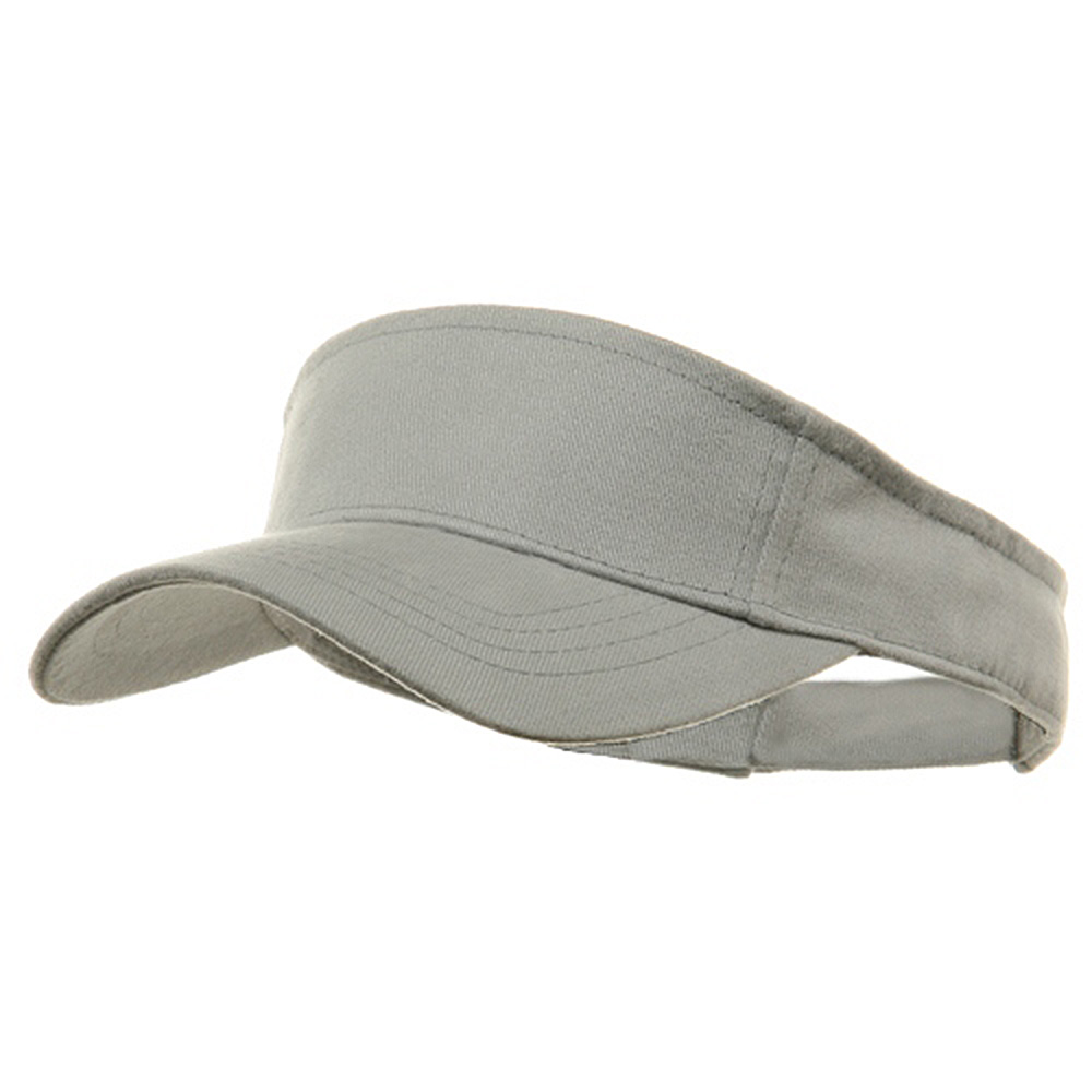 Brushed Sports Visors-Grey - Hats and Caps Online Shop - Hip Head Gear