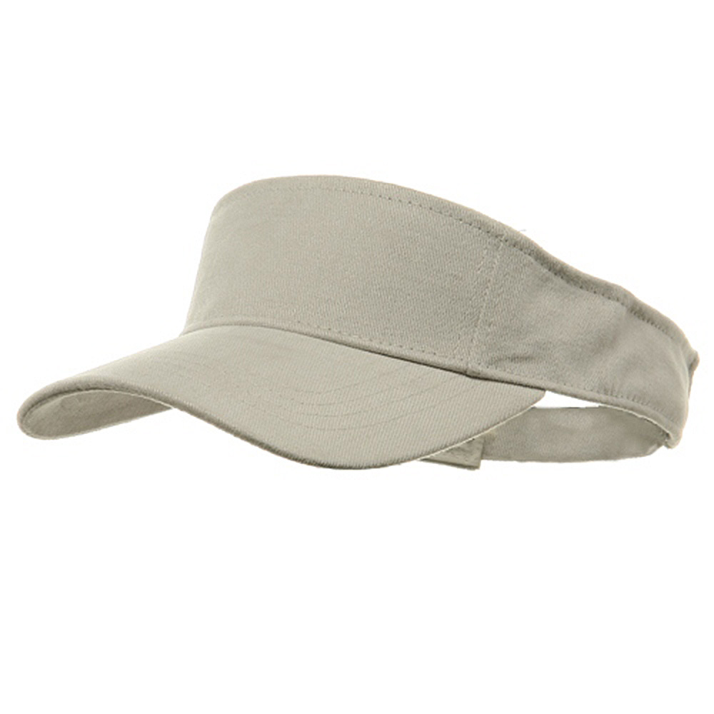 Brushed Sports Visor-Stone - Hats and Caps Online Shop - Hip Head Gear