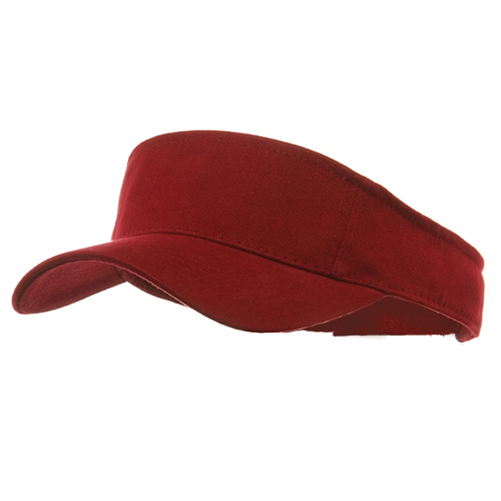 Brushed Sports Visors-Maroon - Hats and Caps Online Shop - Hip Head Gear