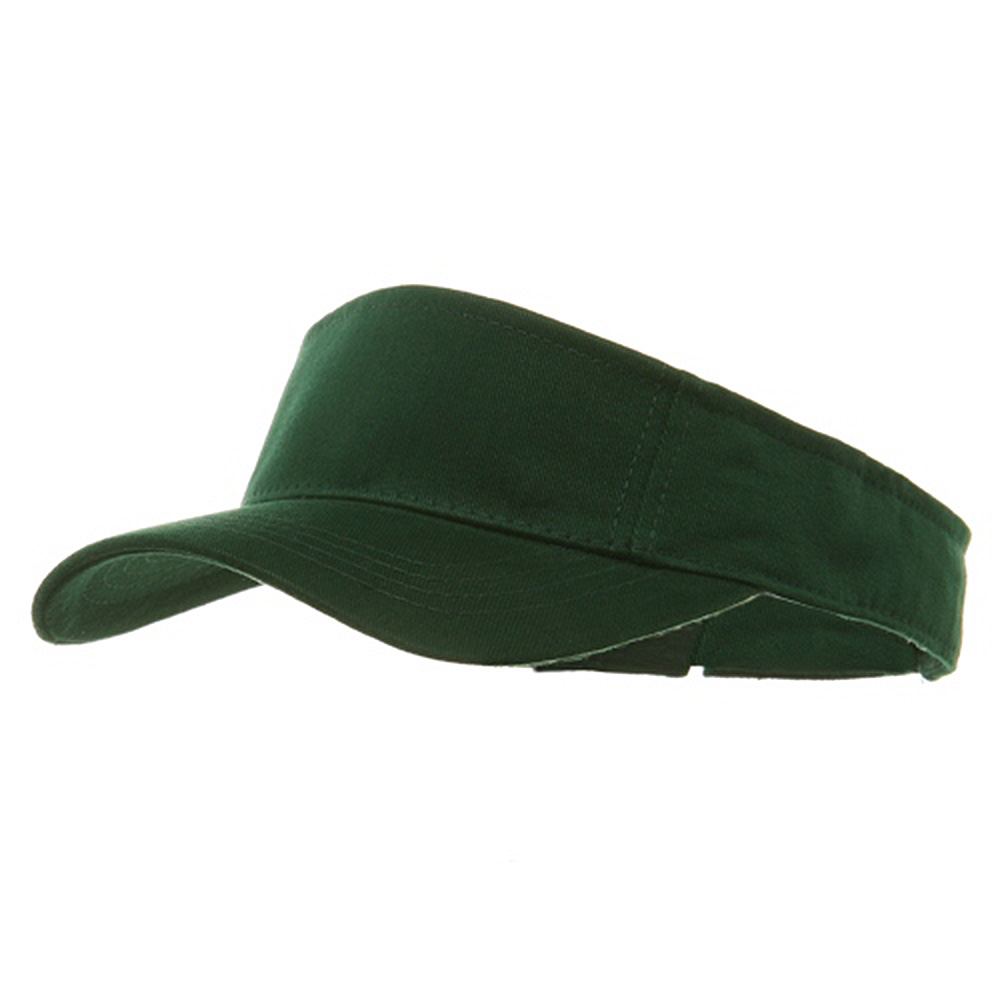 Brushed Sports Visor-Forest Green - Hats and Caps Online Shop - Hip Head Gear