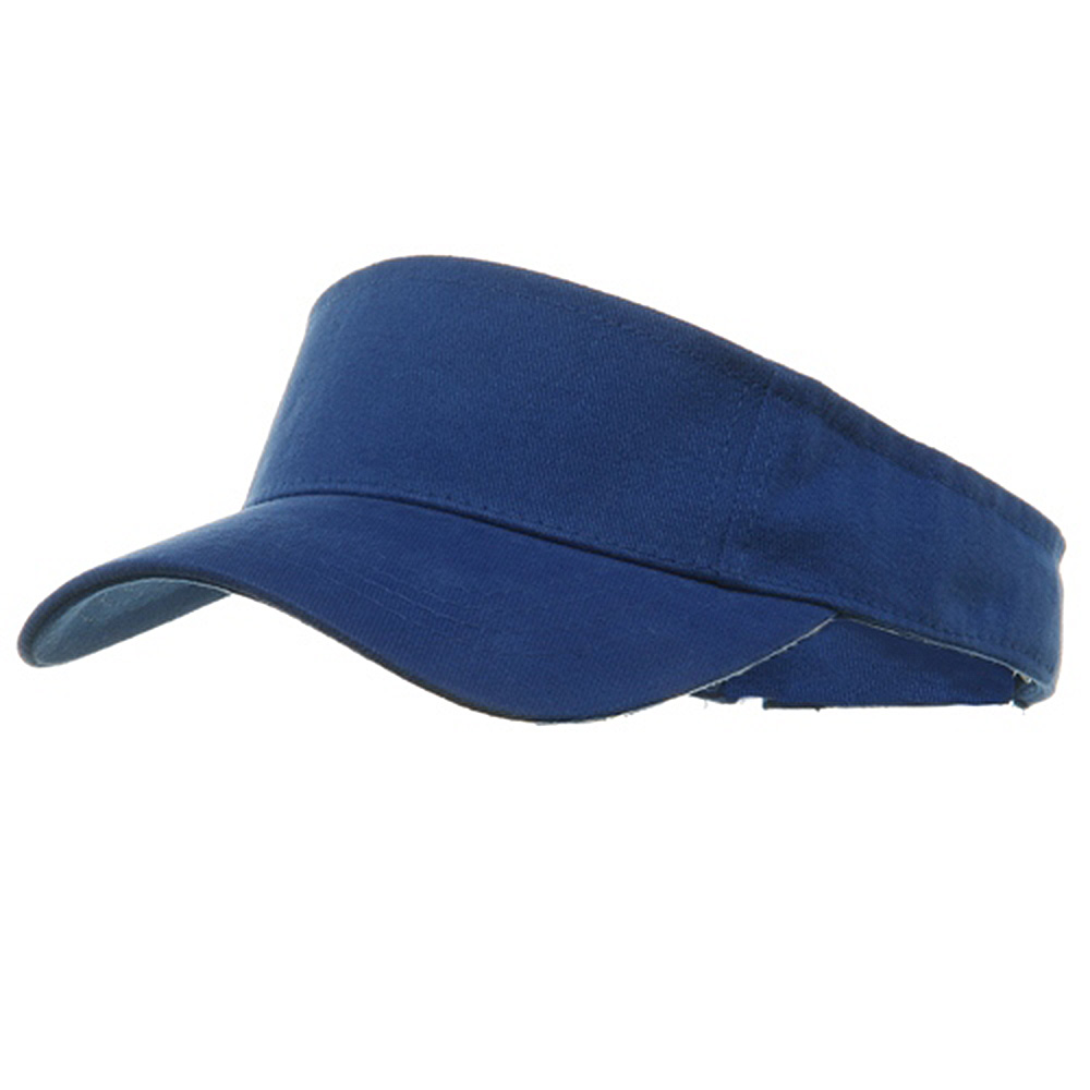 Brushed Sports Visors-Royal - Hats and Caps Online Shop - Hip Head Gear