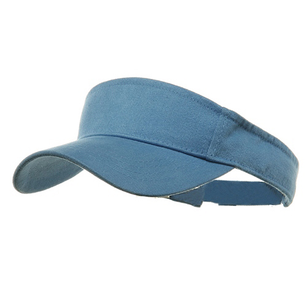Brushed Sports Visor-Sky - Hats and Caps Online Shop - Hip Head Gear
