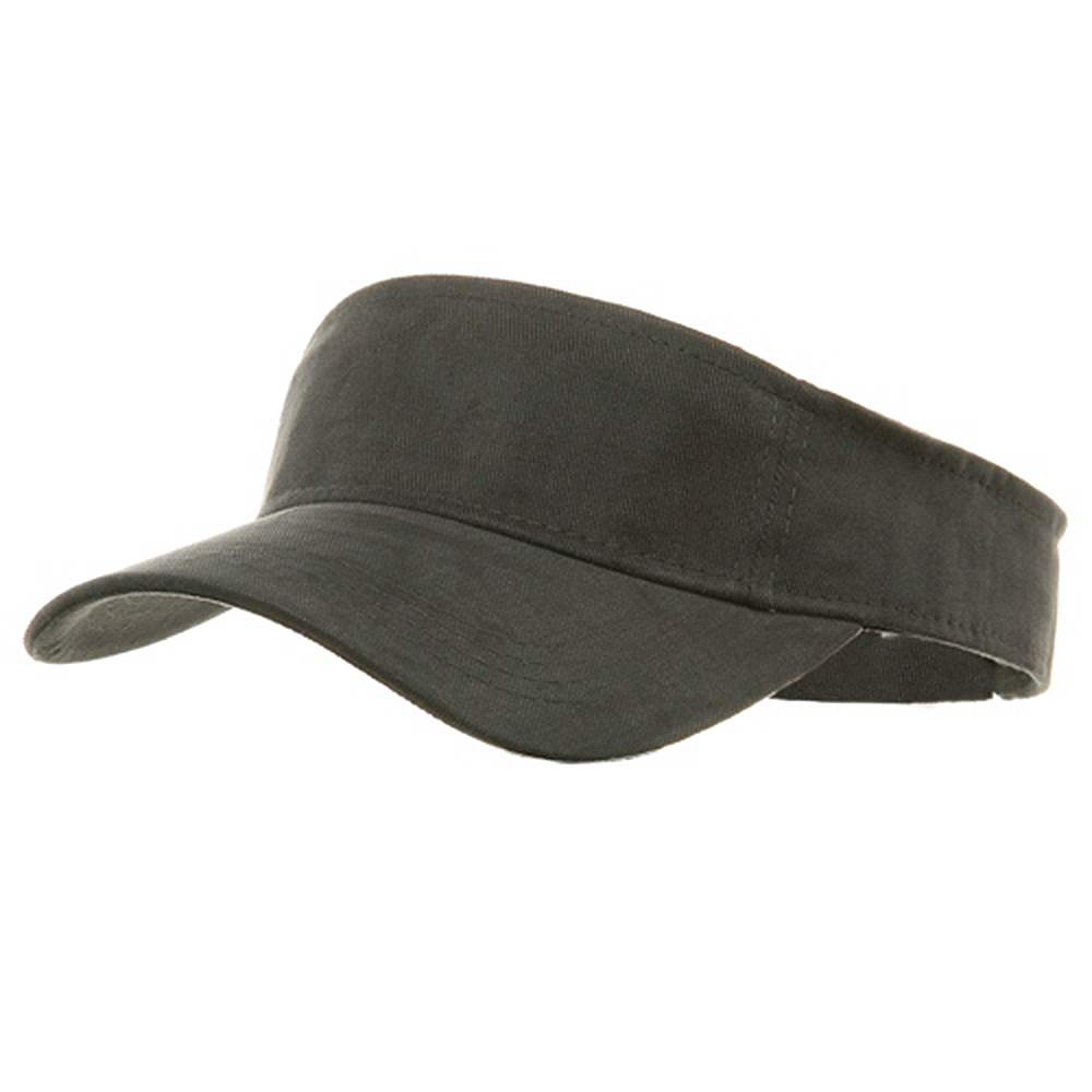Brushed Sports Visors-Charcoal - Hats and Caps Online Shop - Hip Head Gear