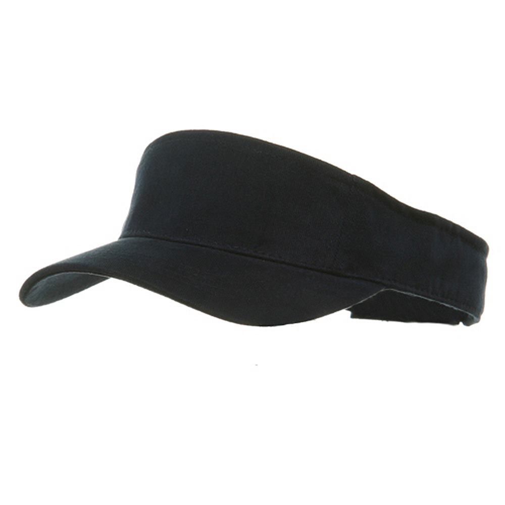 Brushed Sports Visor-Navy - Hats and Caps Online Shop - Hip Head Gear