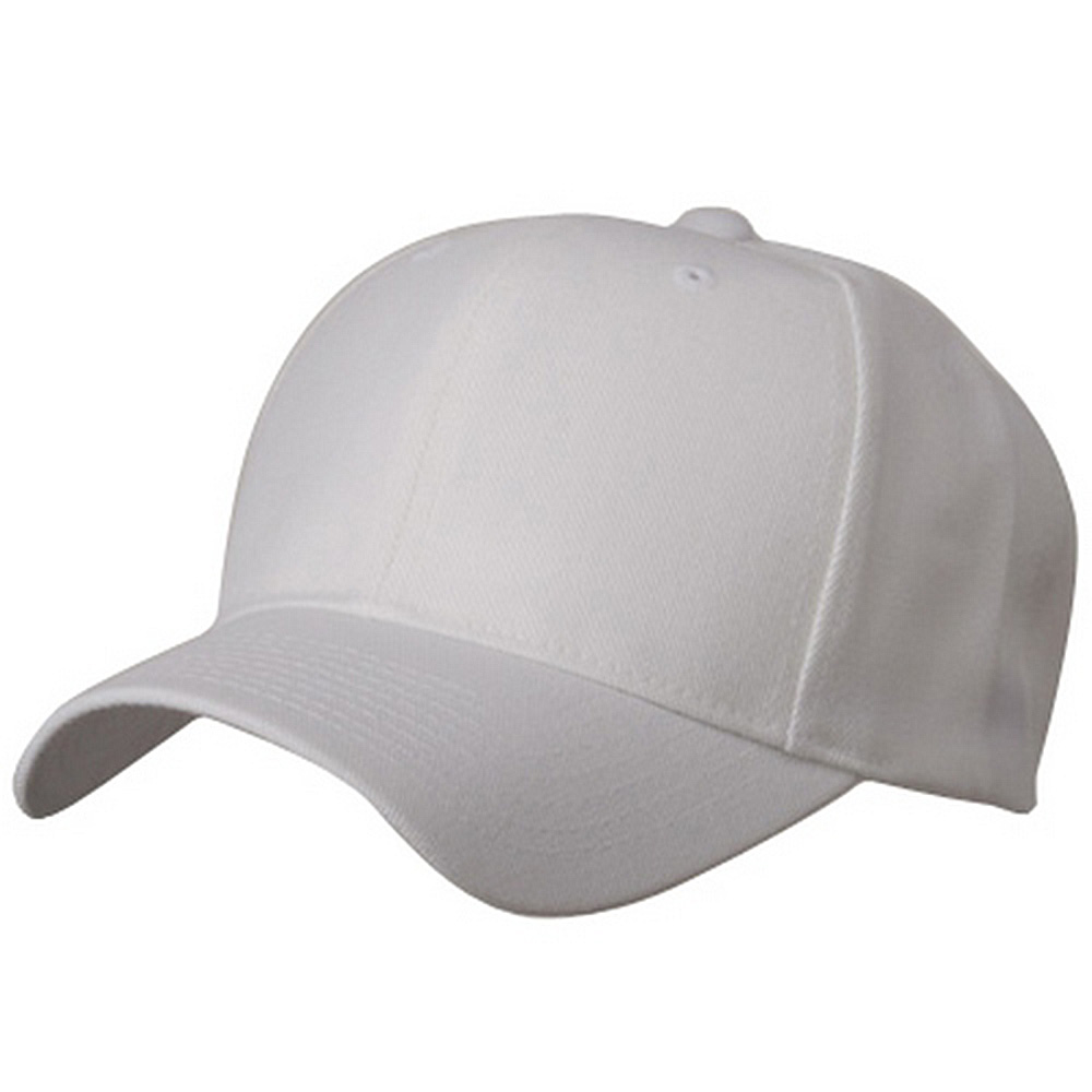 Brushed Cap - White - Hats and Caps Online Shop - Hip Head Gear