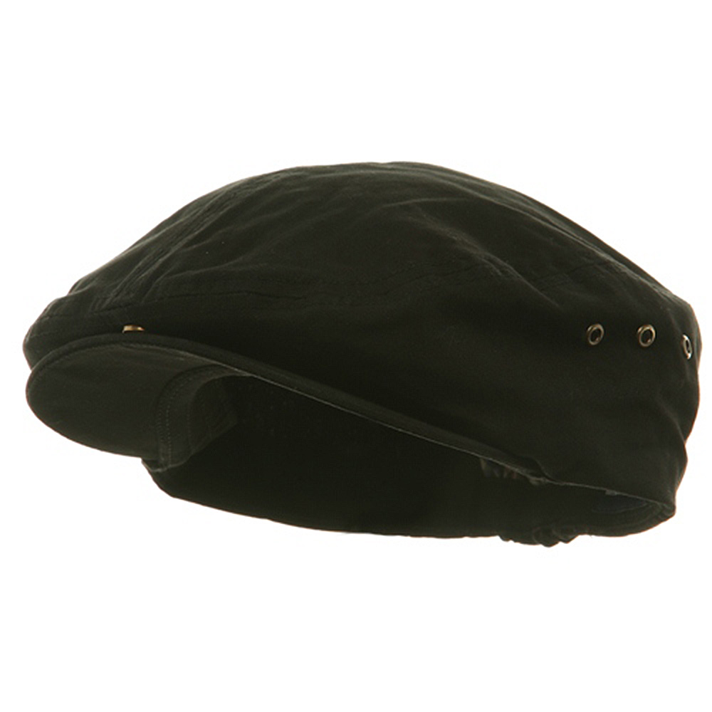Washed Canvas Ivy Cap - Black - Hats and Caps Online Shop - Hip Head Gear