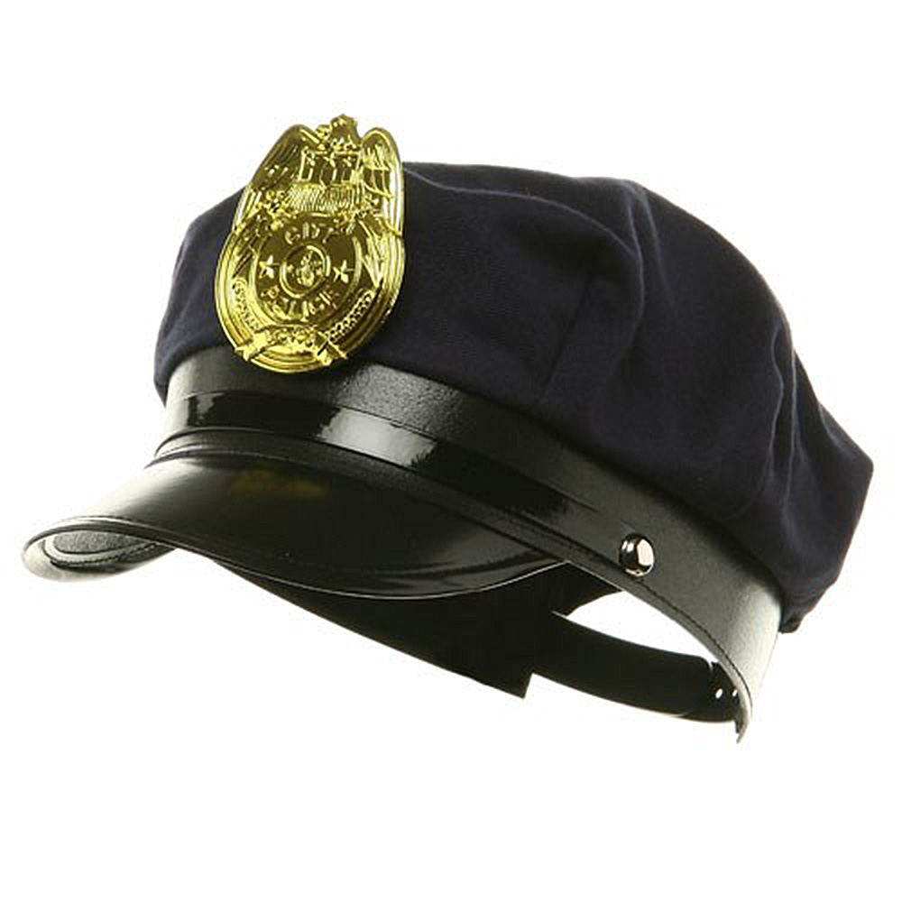 Soft Cotton Police Hat - Navy - Hats and Caps Online Shop - Hip Head Gear